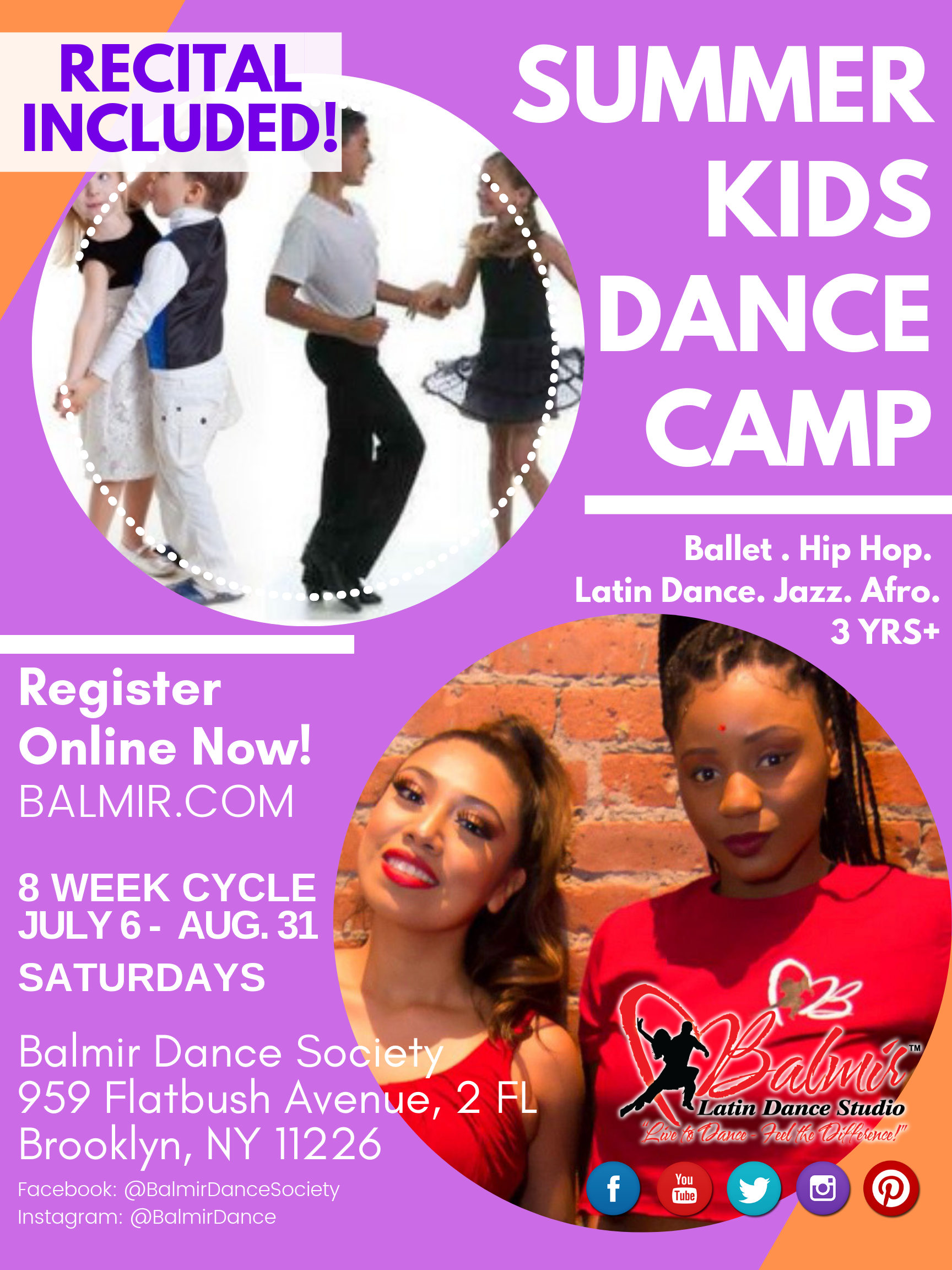 Kids Dance Classes Ballet Hip Hop Latin in Brooklyn NYC Summer 2019 SALSA BACHATA CHACHACHA.png