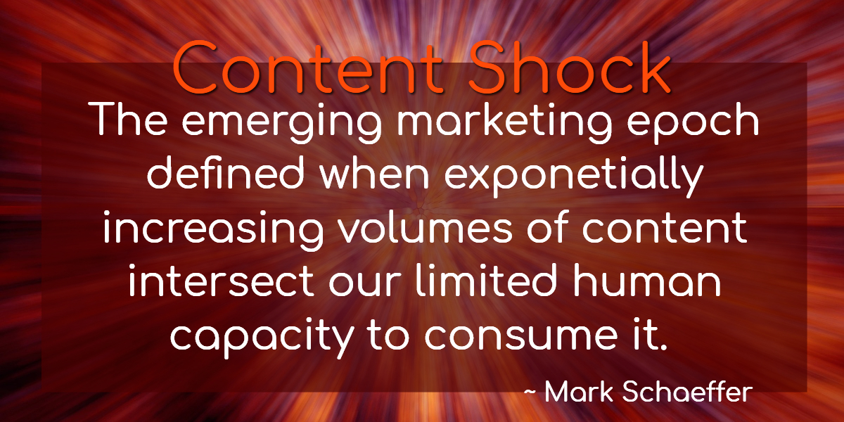 The Definition of Content Shock