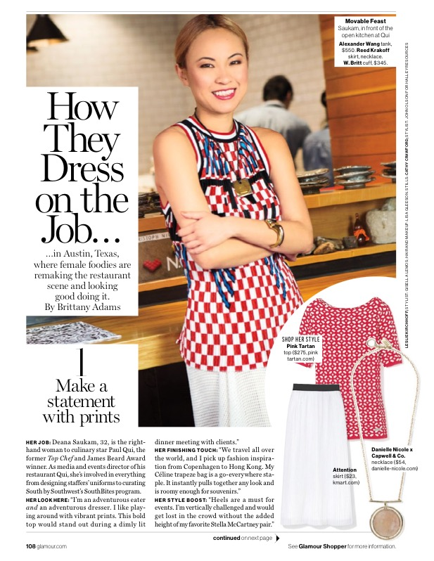 Glamour Magazine, What to Wear to Work, April 2015