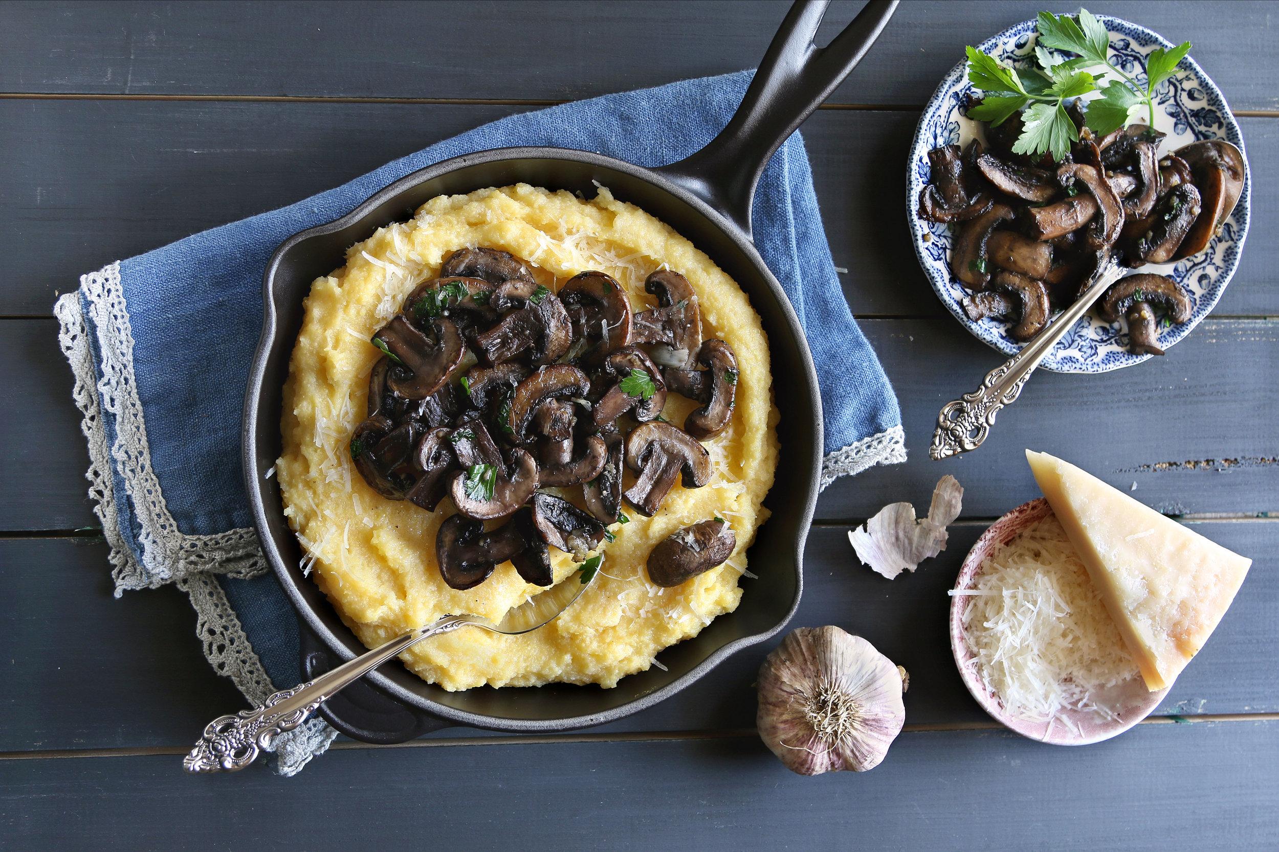 Mushroom and Pancetta Polenta