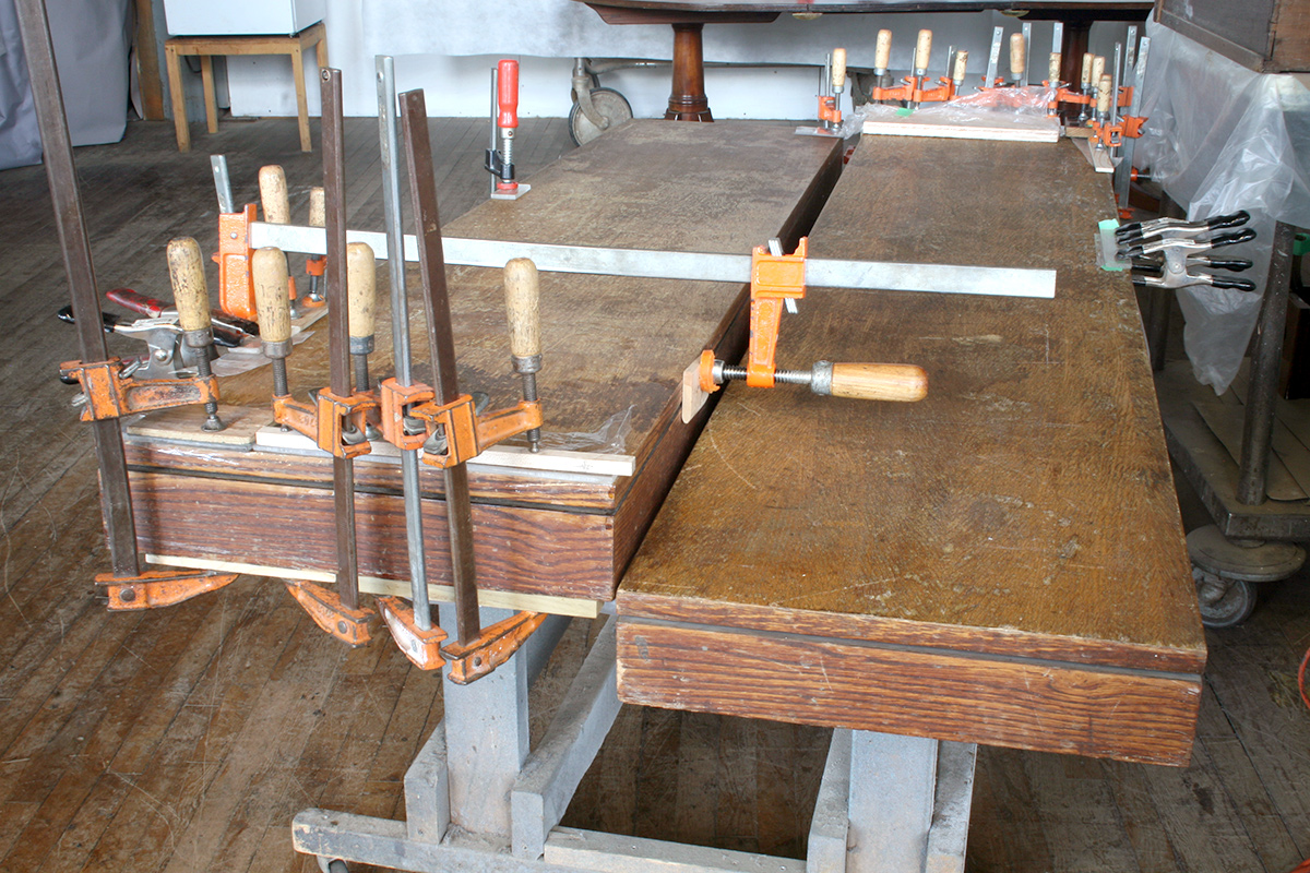 Benches during veneer stabilization