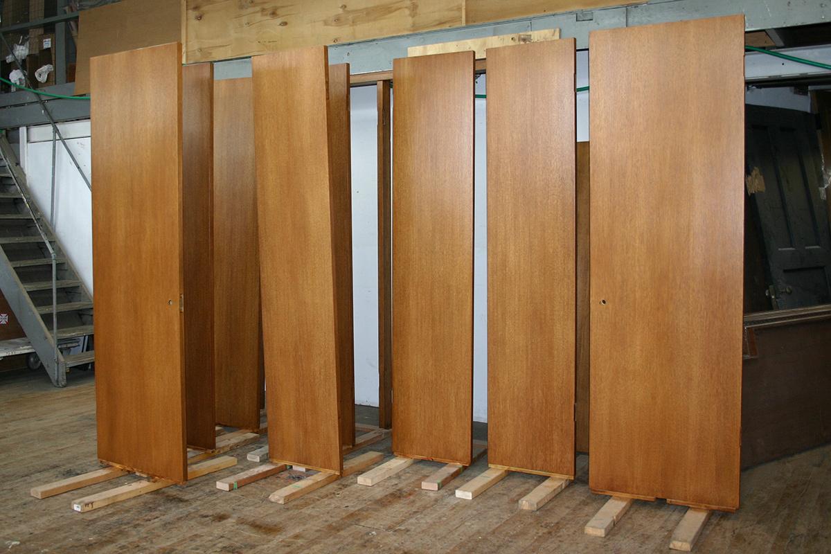 Doors during finishing