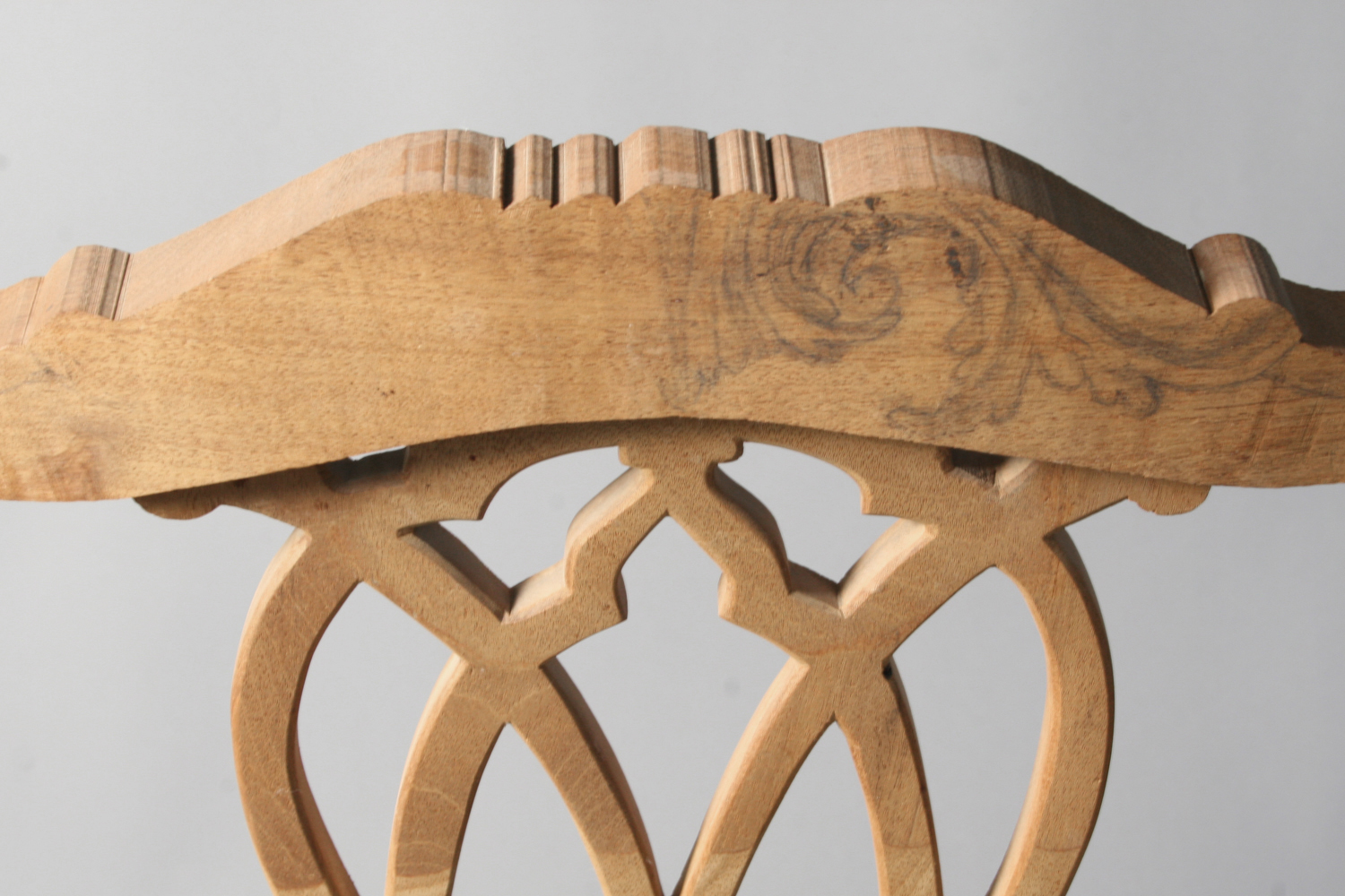 Chippendale chair during fabrication (detail)