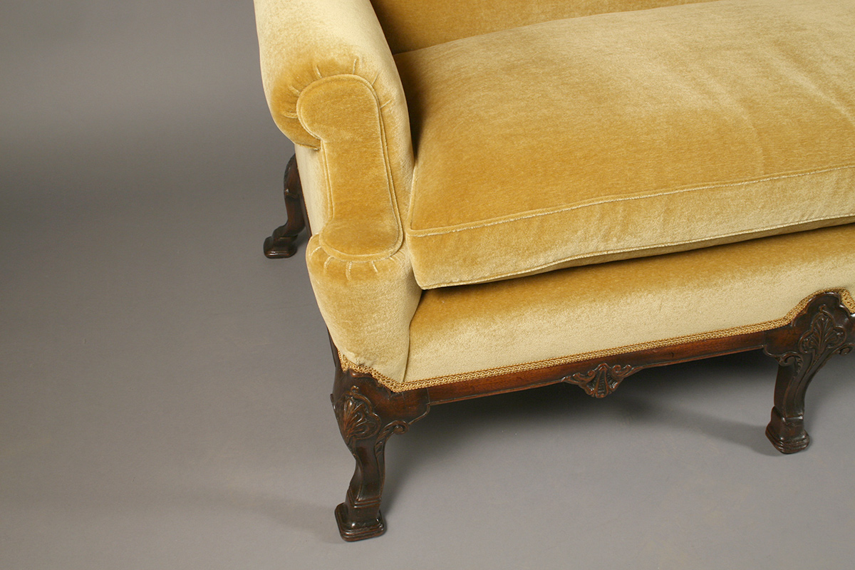 Reupholstered sofa - detail