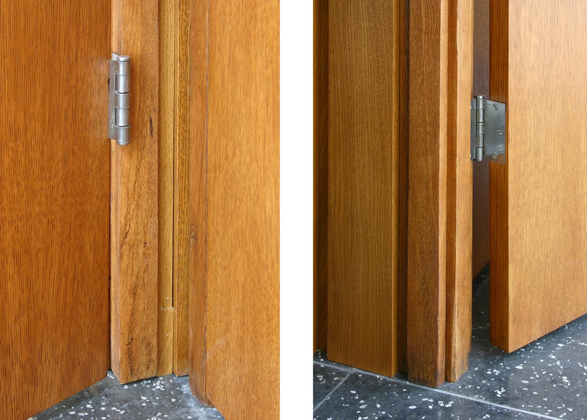 Details of door frames after restoration