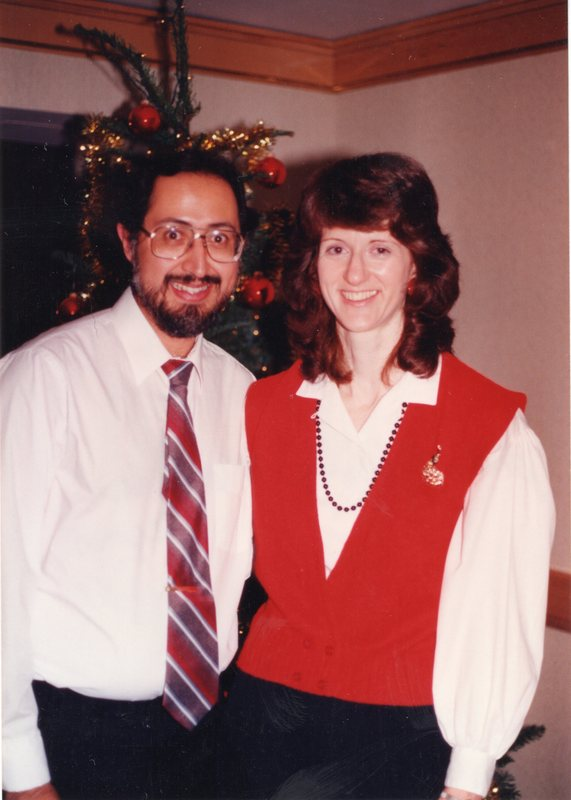 Ed and Janet at the 1991 AIS Christmas party