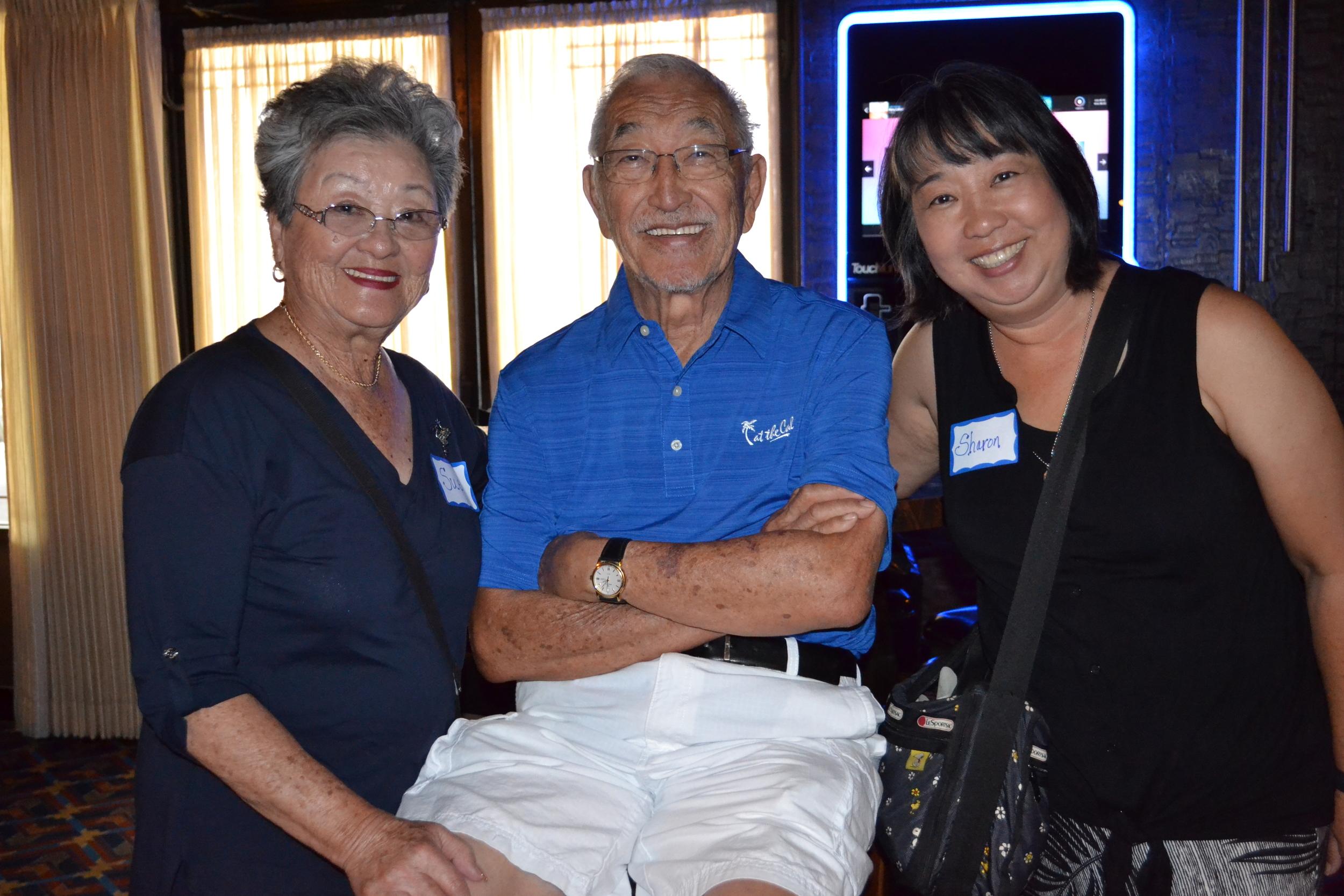 At the reunion: Sue and Ed Hanki; Sharon Hanki