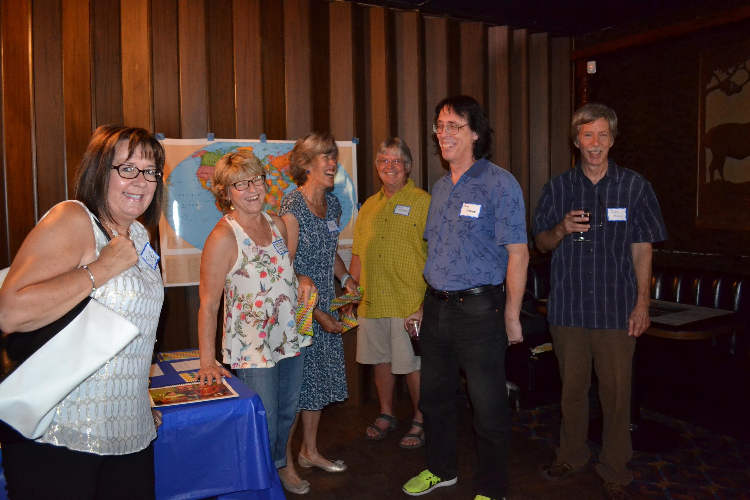 At the reunion: Sue; Gretchen Charlton; Lisa and Eric McCready; Ken Althiser; John Menke