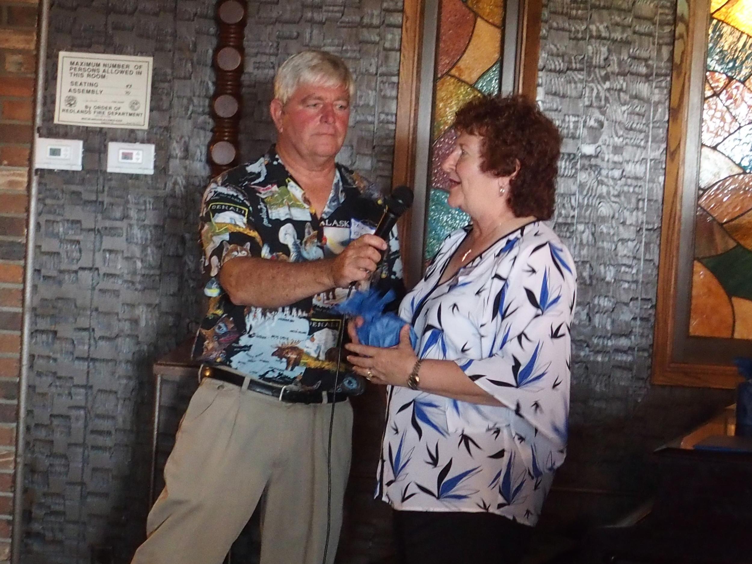 Paul asking Marlene Meyers where she'd traveled from