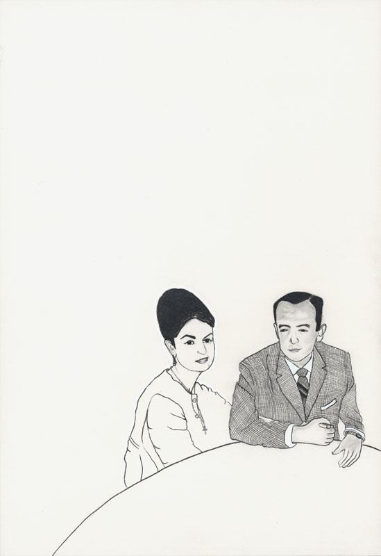 10.Julian y Maria Jose 2002. Graphite & ink on paper. 10%22 x7%22jpg.jpg