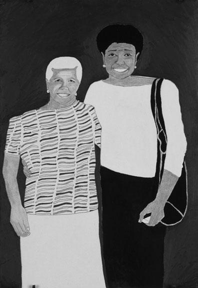 6. Estervina & Maria Magdalena 2003. Ink & Graphite on paper. 9%22 x12%22jpg.jpg