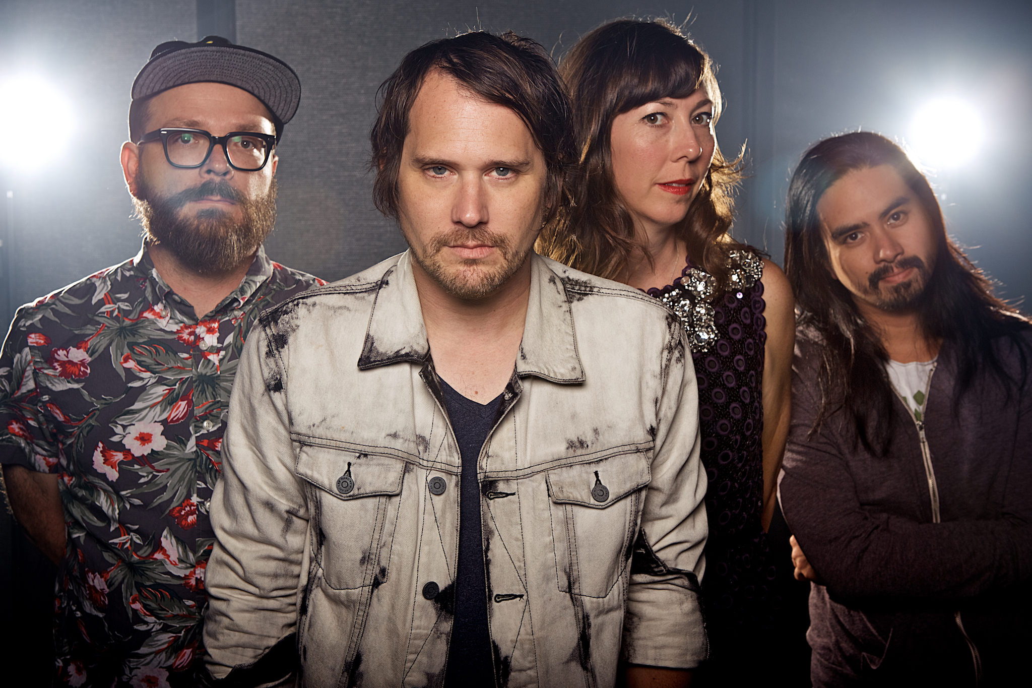 Silversun Pickups Portrait for iHeartRadio   - Shooting SSPU was a big one for me. Their show at iHeart was right after their 3 sold out nights at the Masonic Lodge at Hollywood Forever, so the guys were a bit tired but still in great spirits. For their portraits, I had a couple loose ideas of what I wanted to do. After working a couple iHeart gigs, I learned pretty quickly, that you can't be too terribly prepared and you need to be super flexible for those times that the locations and times change multiple times throughout the day.  Knowing that I need to try and get at least 2 different distinct looks, I always try to have AT LEAST 3 or 4 ideas AND alternate locations in mind. For this shoot, it was pretty simple. I had worked out a couple different lighting scenarios that could be changed quickly, so it was just moving a couple light stands, changing a lens, and it had a totally different feel.