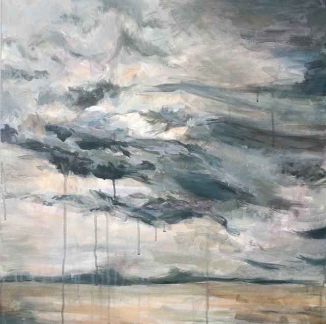 Texas Tears II drippy landscape painting skyscape rain Kaitlin Merchant Davison kdmerchant.jpg
