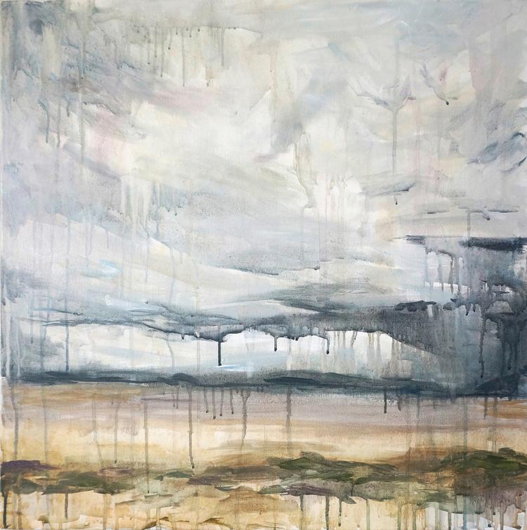 Texas Tears III drippy landscape painting skyscape rain Kaitlin Merchant Davison kdmerchant.jpg
