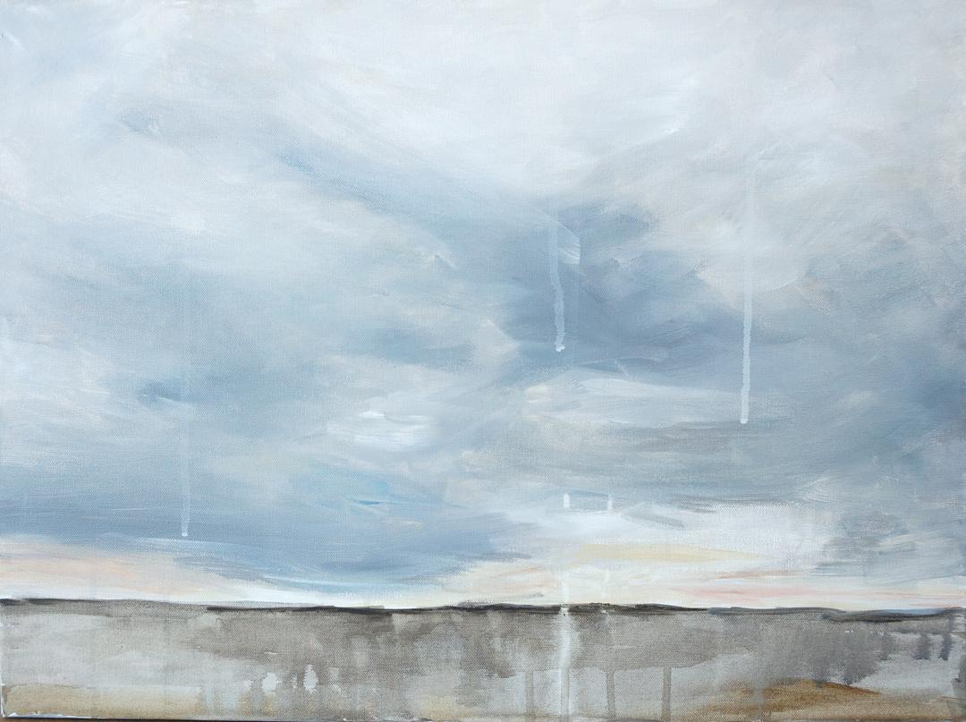 Texas Tears XI drippy landscape painting skyscape rain Kaitlin Merchant Davison kdmerchant.jpg