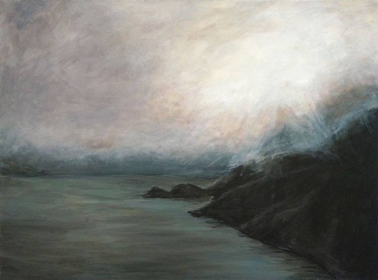 Misty Seascape landscape painting skyscape seascape misty atmospheric Kaitlin Merchant Davison kdmerchant.jpg
