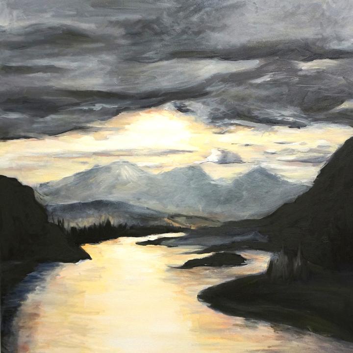 Montana Mountains Empowerment Freedom Dignity landscape painting skyscape Kaitlin Merchant Davison kdmerchant.jpg