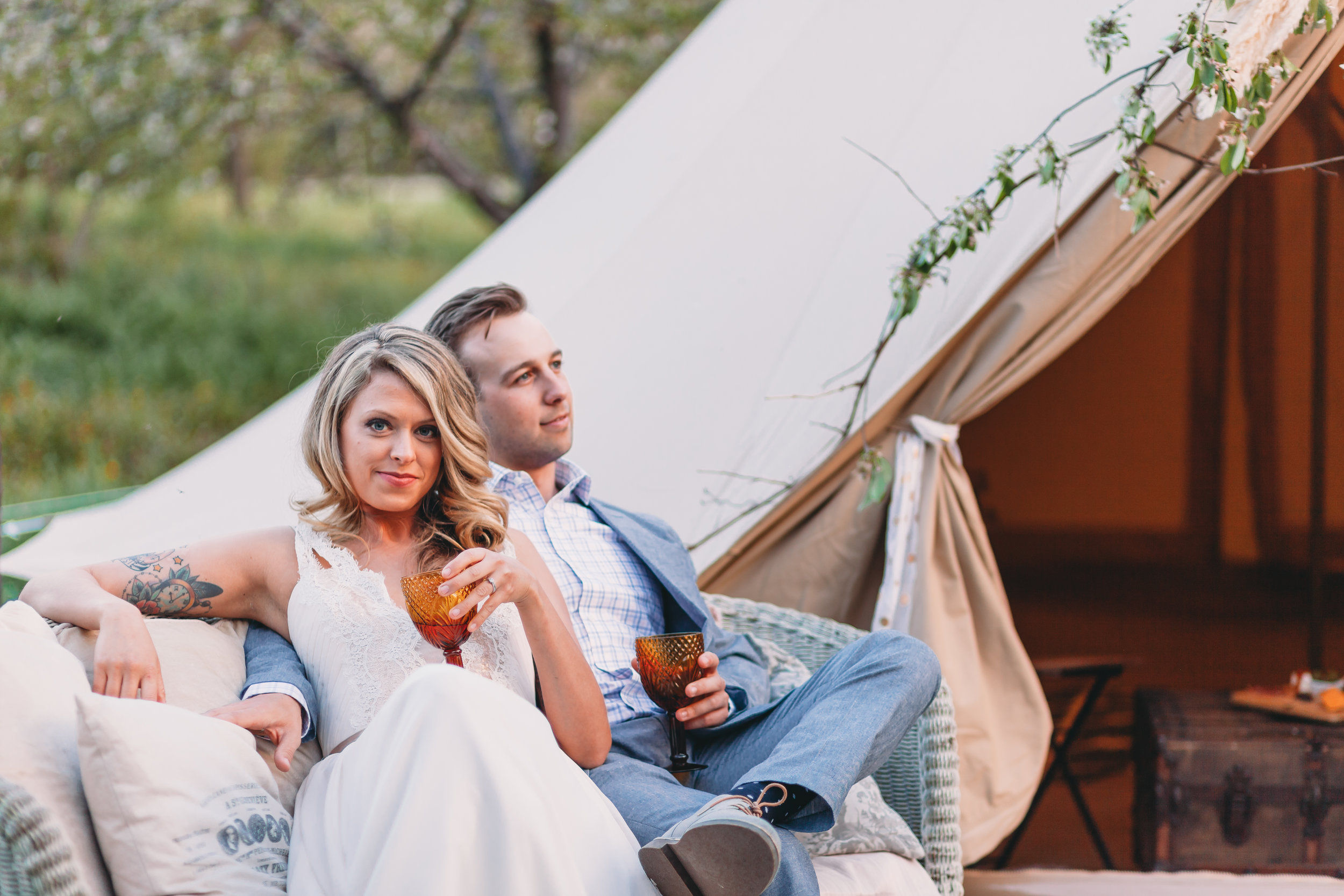 Luxury Glamping Wedding Trend