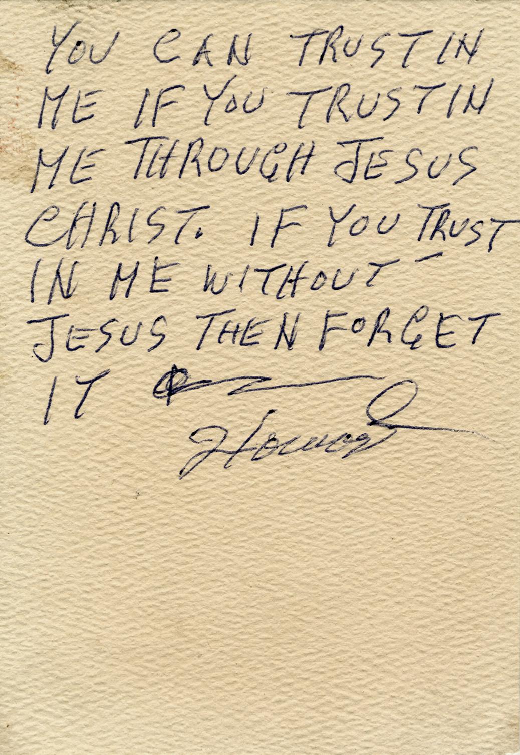 8) Howard Finster, Sermon Card, ca 1978 - 1982.JPG