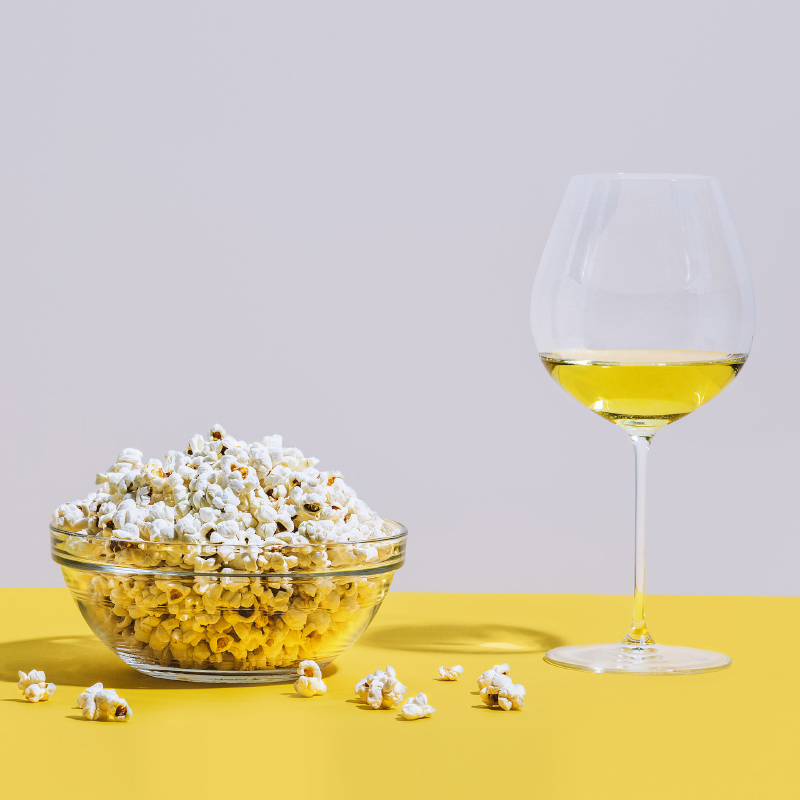 TGIF - Friday nights a happy place - along with a couch, a bag of popcorn and a perfect glass of Chardonnay indulgently as buttery as it's snack counterpart. Insert happy face emojis here.