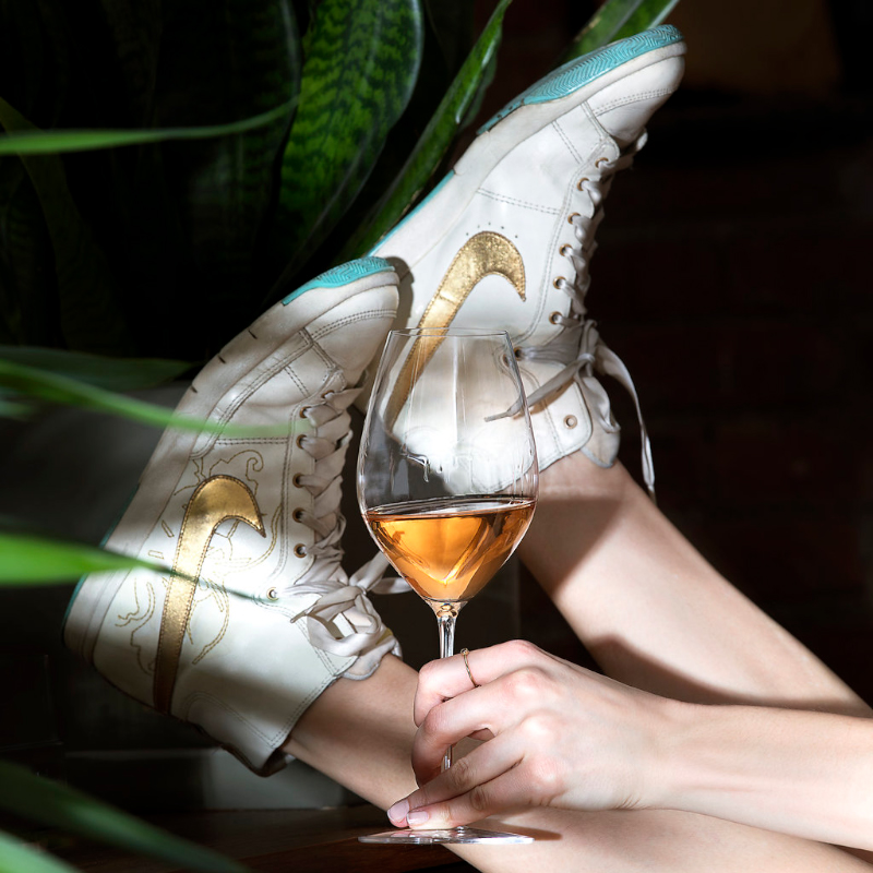 A Certain Something - Special edition sneakers with silk laces from Paris purchased in 2007 - long before the current sneaker mania hit. Rosé Champagne - made for over a century before becoming popular in America …