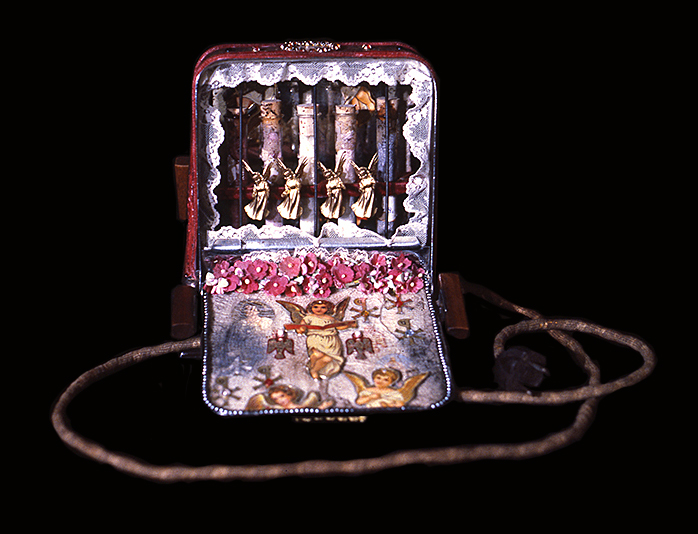 Reliquary of the True Passion, open