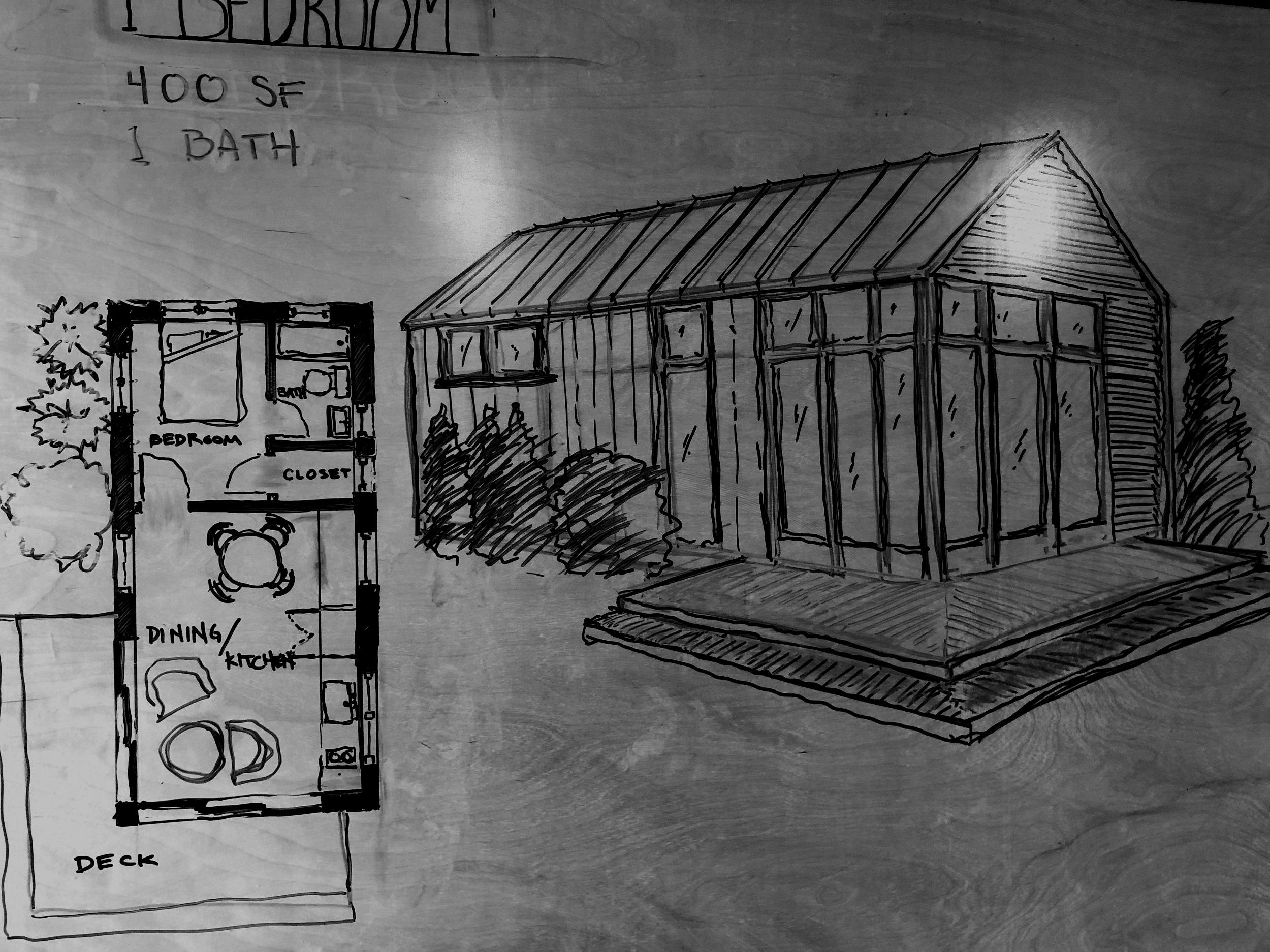 PASSIVE DADU 1 - 600 sf passive backyard cottage