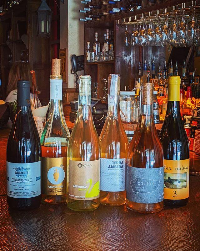#orange #wines #bytheglass #thegreek #season7 .. .. #orangewines #naturalwines #naturallygreek #tribeca #nyc  #greekfood #greekwine #supportgreece