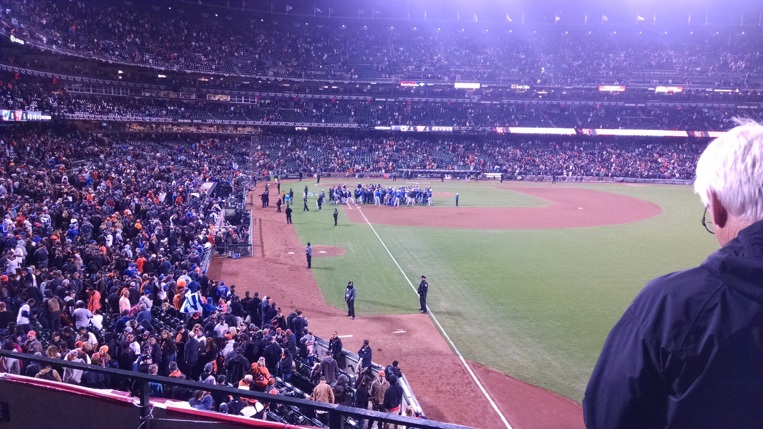 Cubs Clinching a berth in the Championship Series here at At&T Park 10/11/16.... Their last Celebration in 2016???