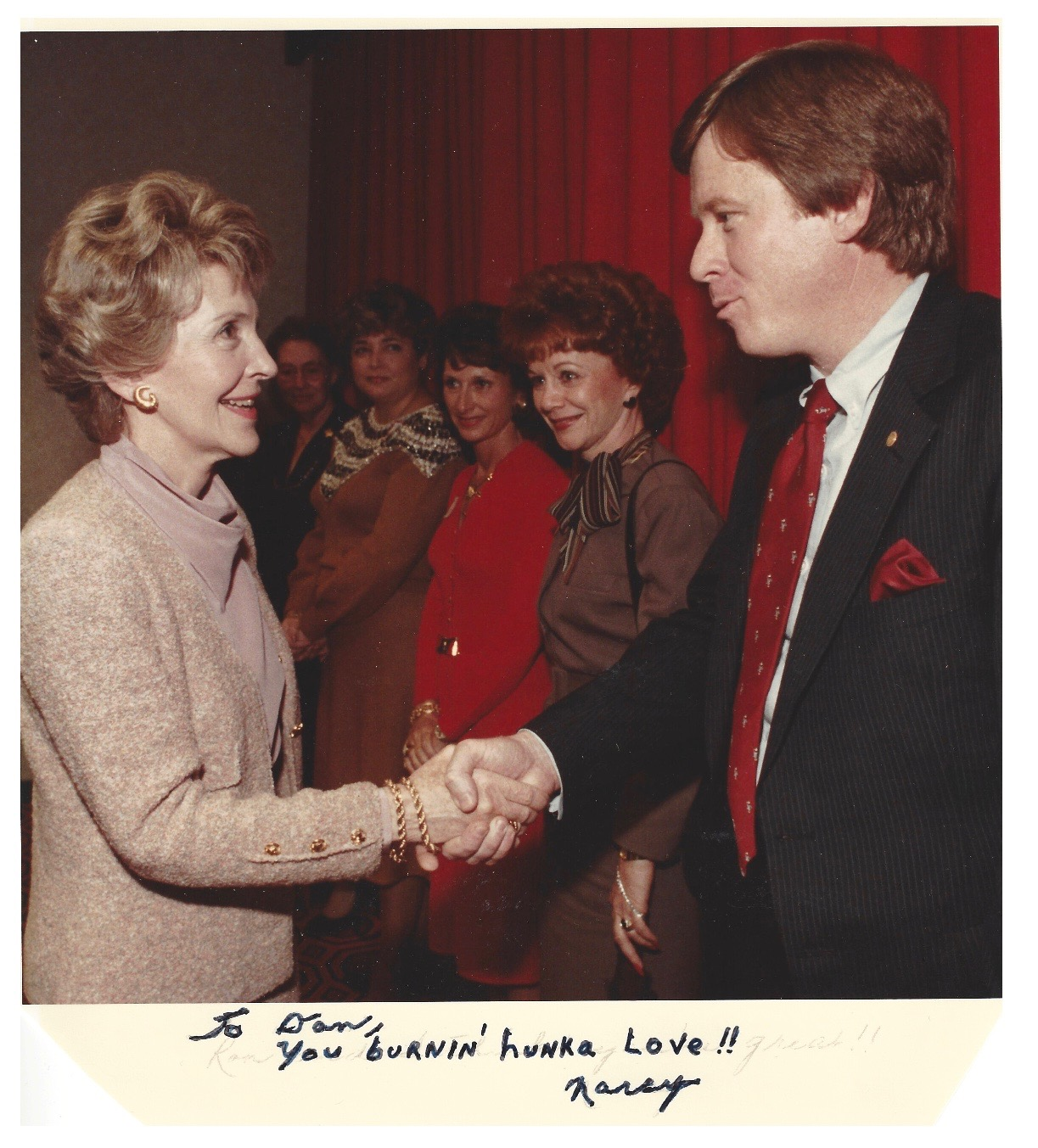 """Mrs. Reagan visiting our Texas Capitol with her """"Just Say No"""" Program…(mid-'80s)"""