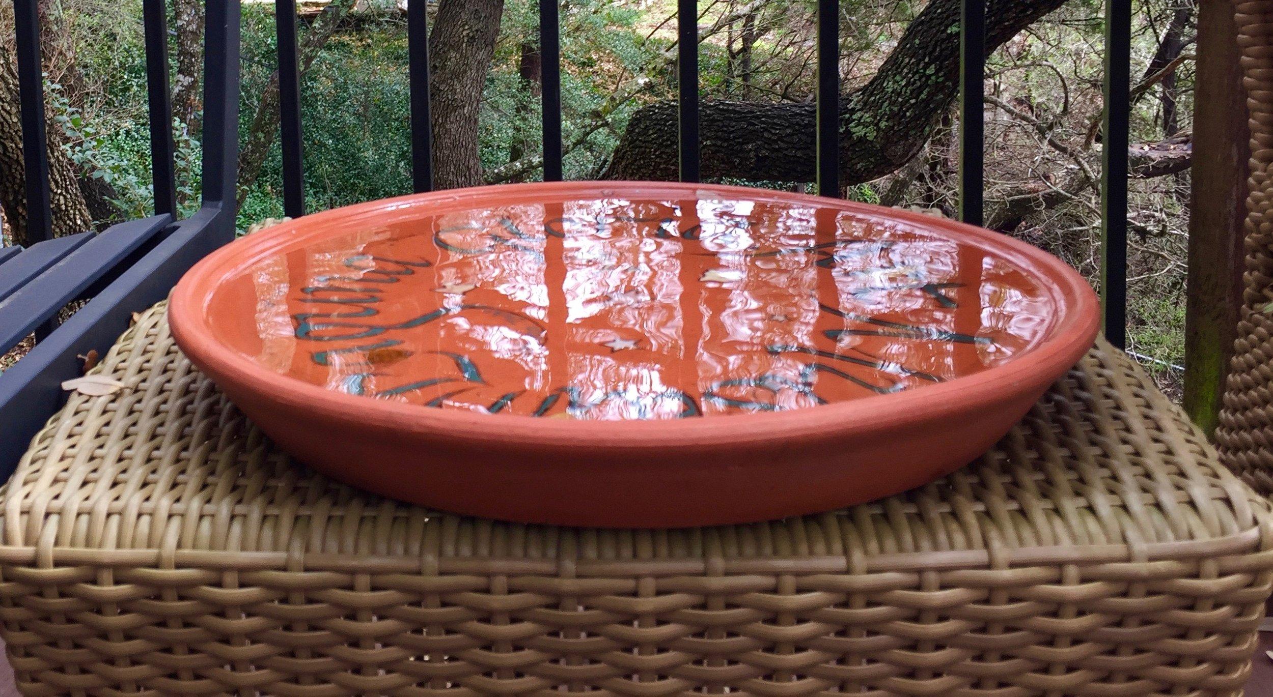 A Ceramic Bowl After An Austin Rain Shower…