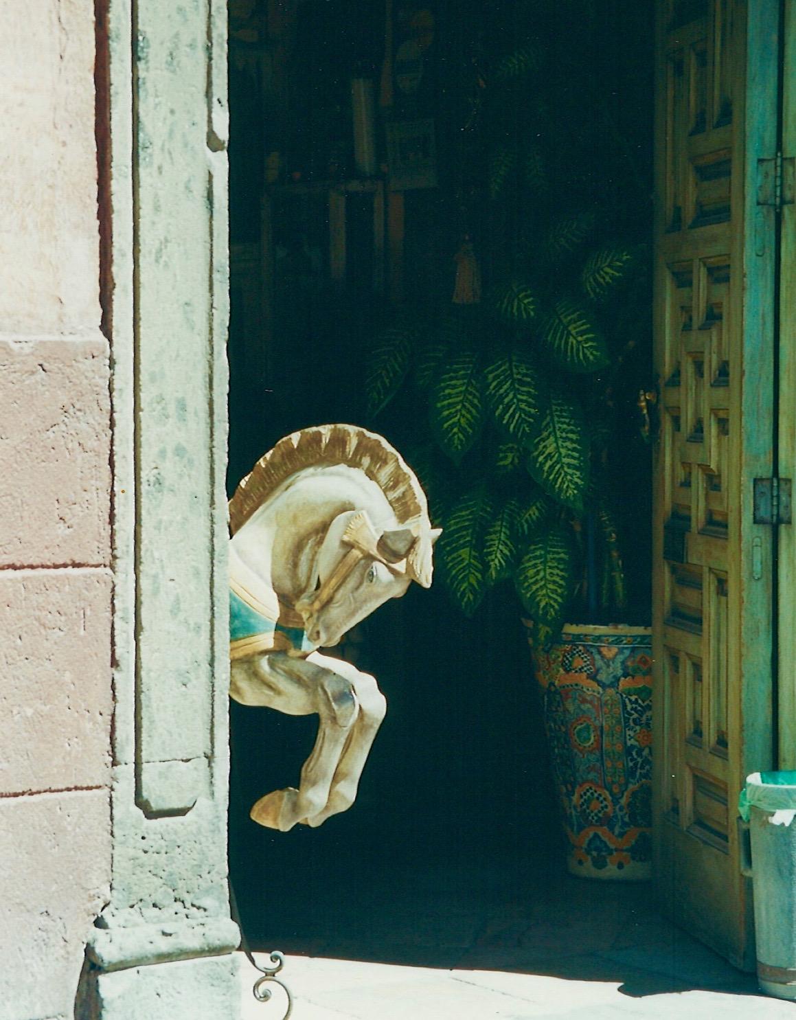 Through A Doorway In San Miguel de Allende, Mexico…