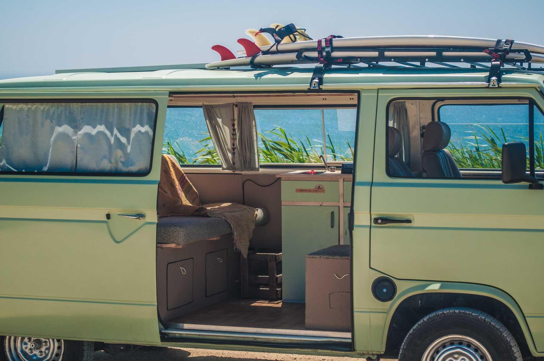 vintage camper van rental portugal