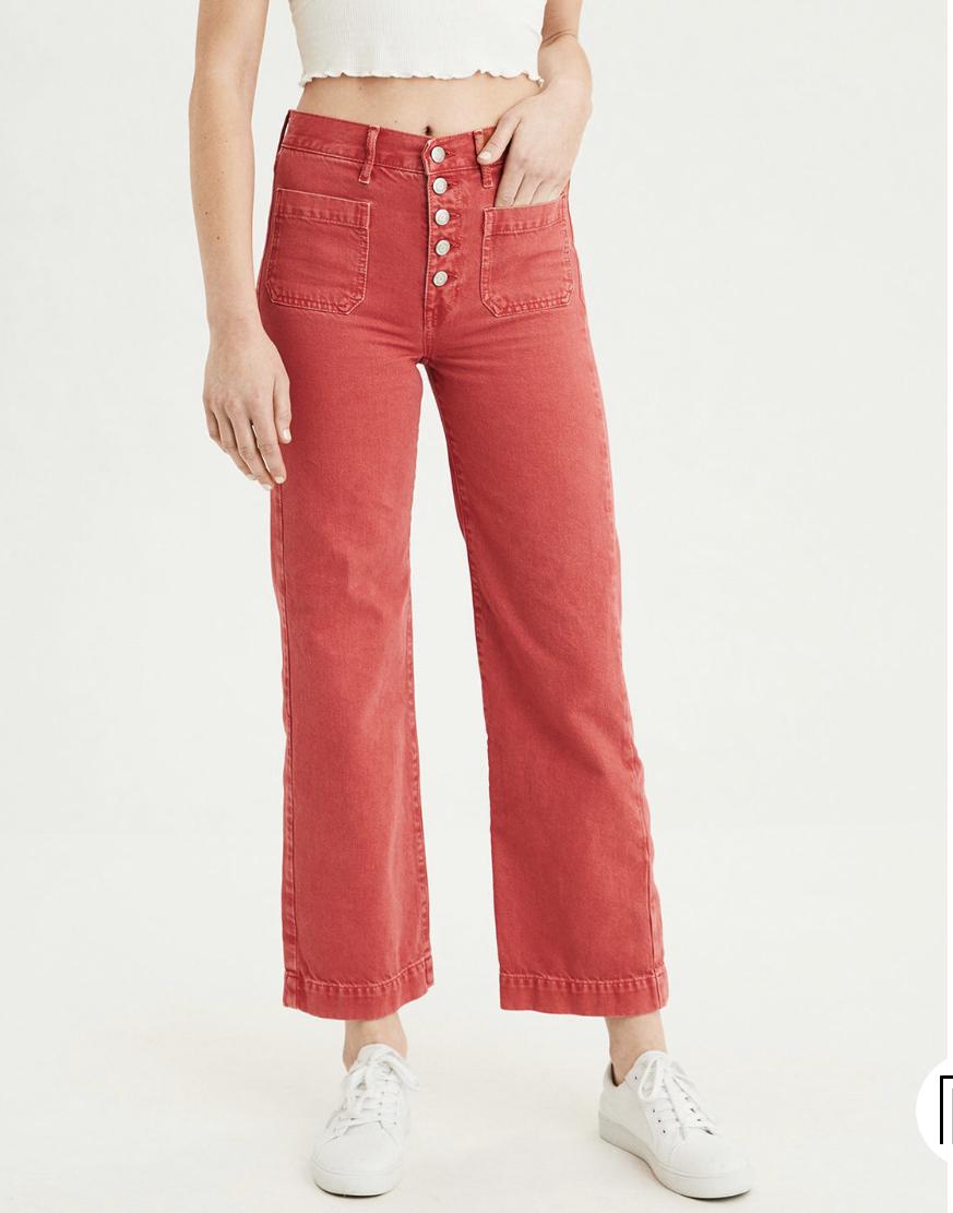 Last but not least - Madewell dupe. $101 there, $35 at AE. Plus they come in short and long sizes. Some Madewell do too, but not typically the cropped pants.