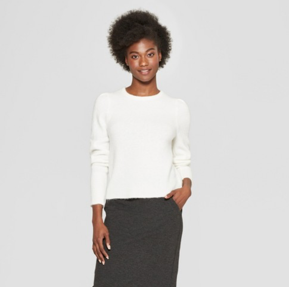 Target sweater - I have it in two colors, so soft and cozy!