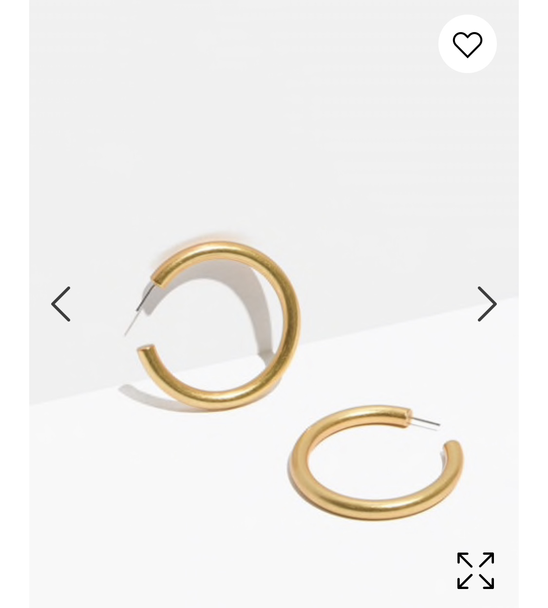 Gold Hoops, Madewell - Need I say more? Only $28, plus 25% with code VERYMERRY