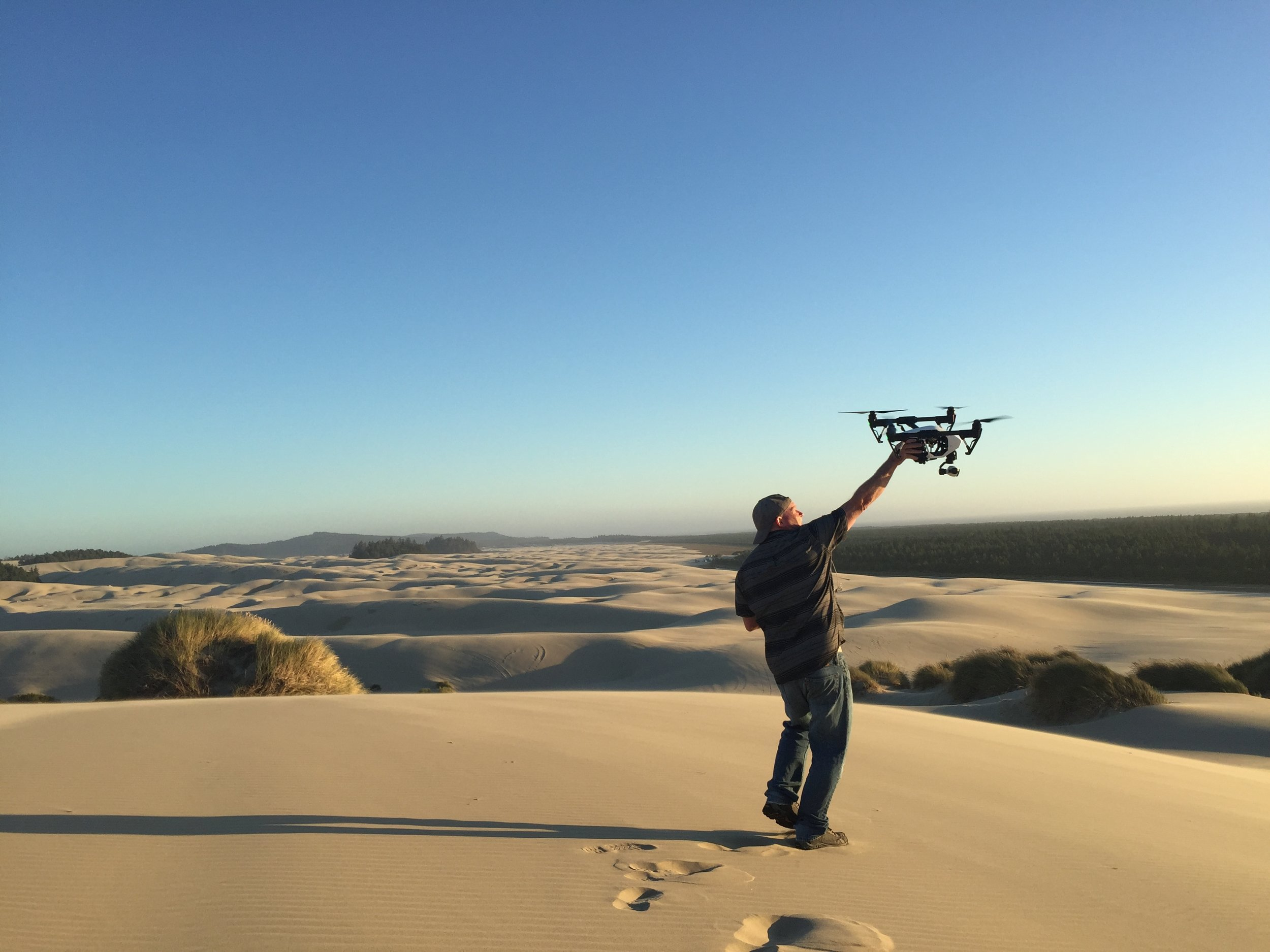 Drone on the dunes