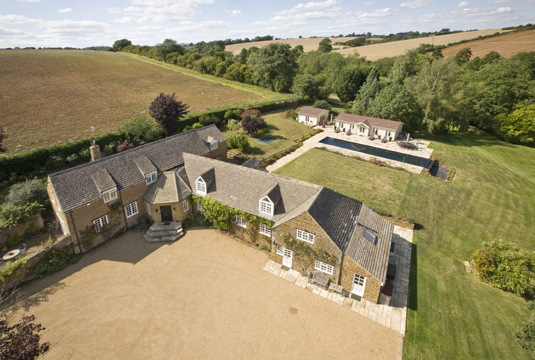 Aerial view Beggars Barn Oxfordshire