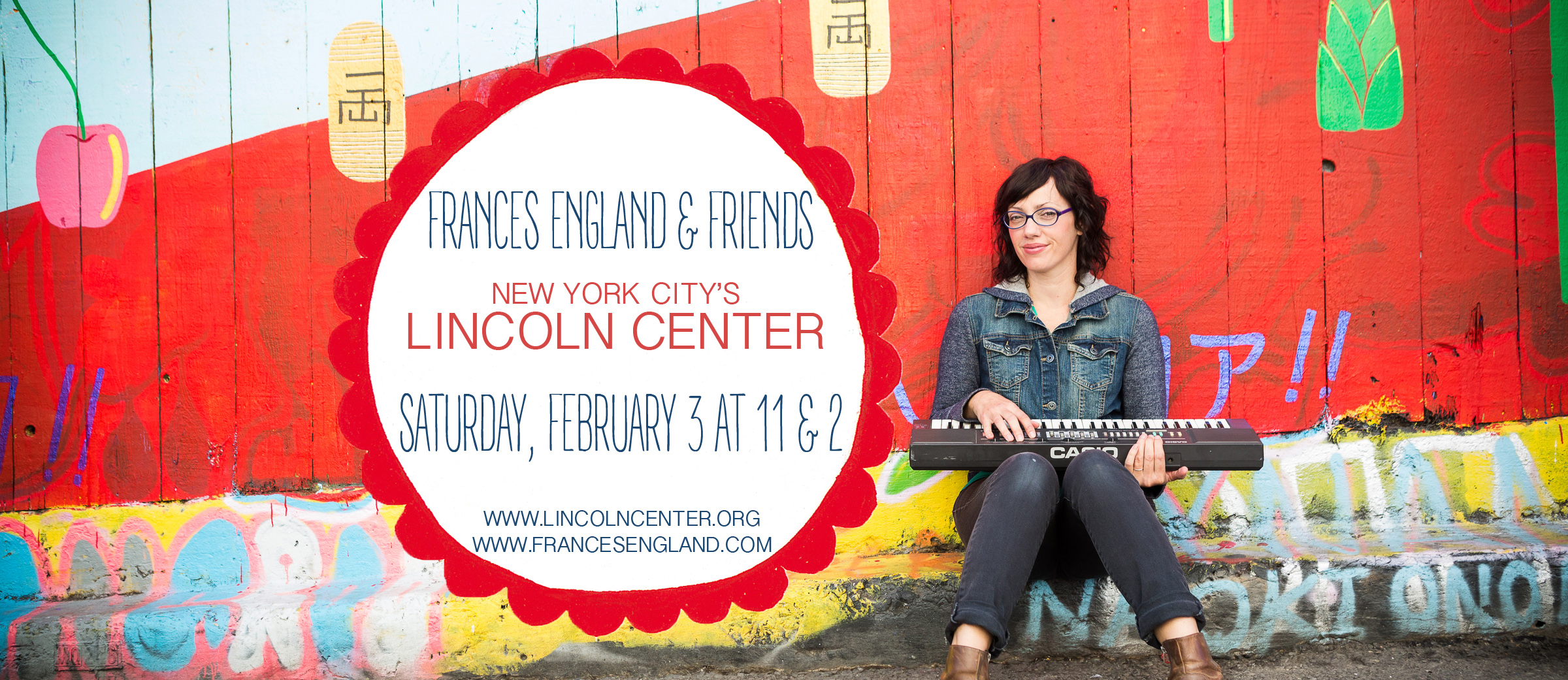 We are so excited and honored to be playing two shows at Lincoln Center! If you are in the NYC area please come sing with us! xoxoxo f