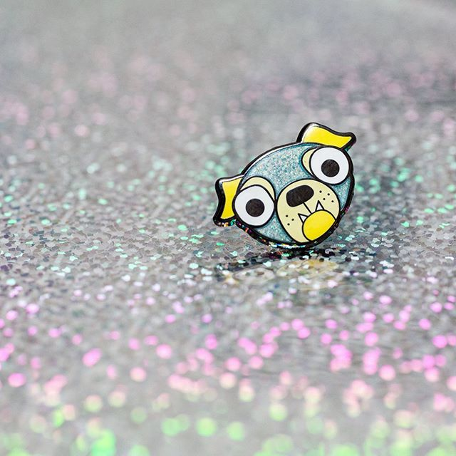 Happy National Dog Day! Celebrate with one of our dog pins, including this glittery pup ✨