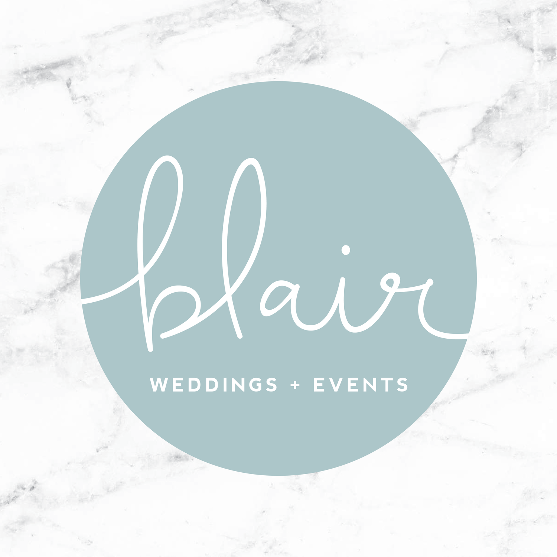 Blair Weddings + Events    brand // print