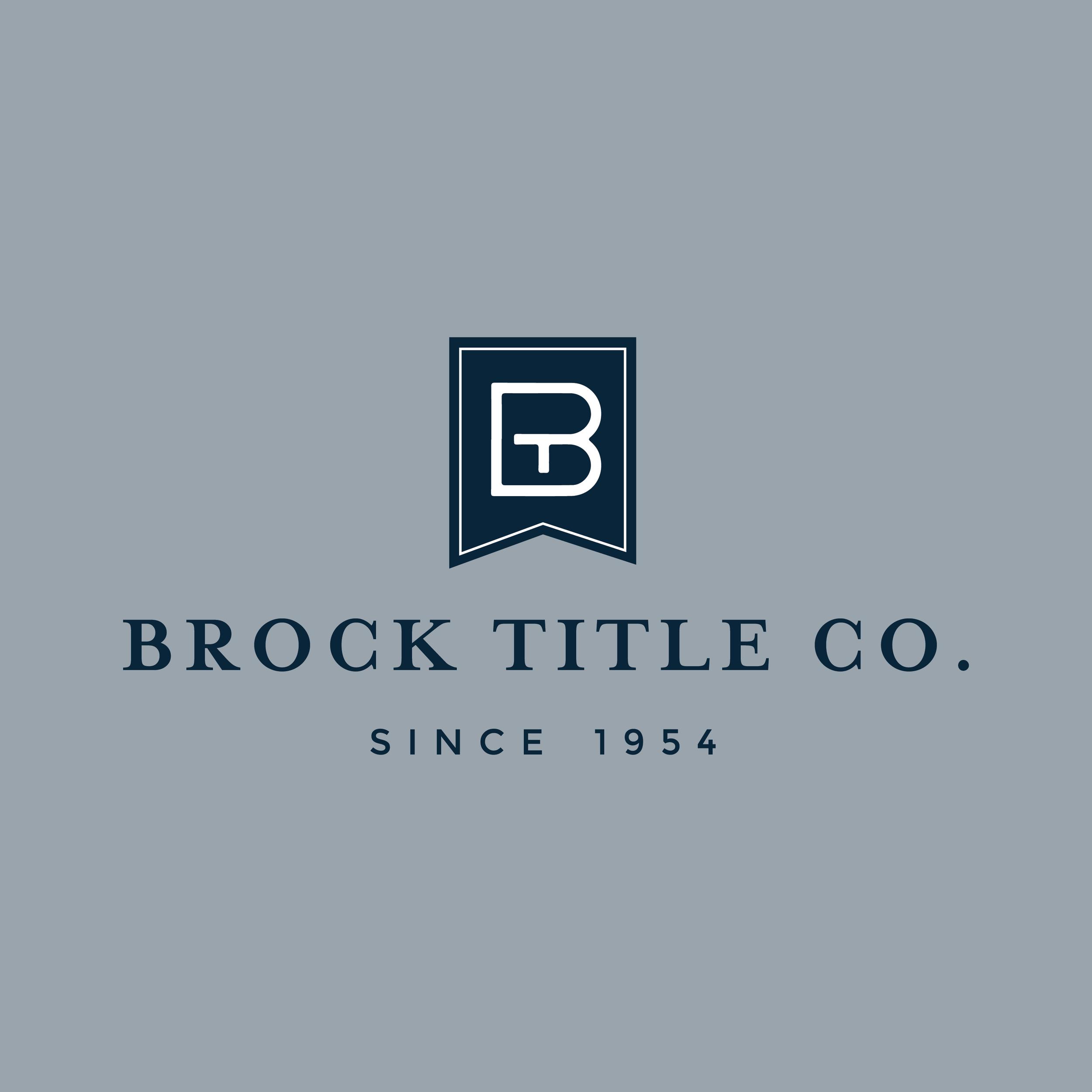 B  rock Title Co.    b  rand // print // signage