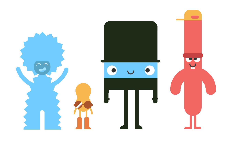 Flat character shapes