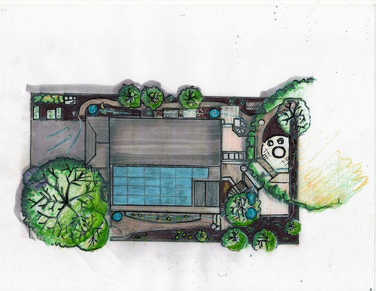 Here is an example of an illustration from a Master Site Plan that was created for a client.