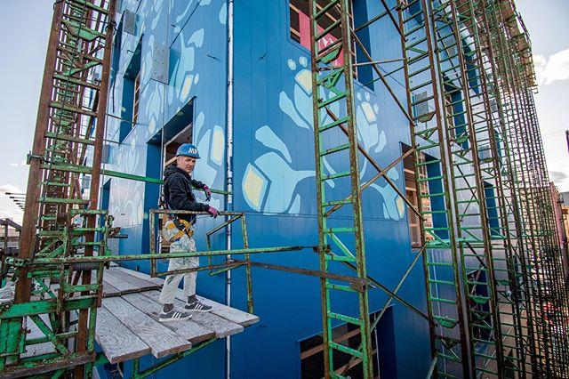 @michael_paulus and @jeannemarewerle Distracting Morrison Bridge drivers since 2019 #muralartist #mural #portland #treefarmpdx
