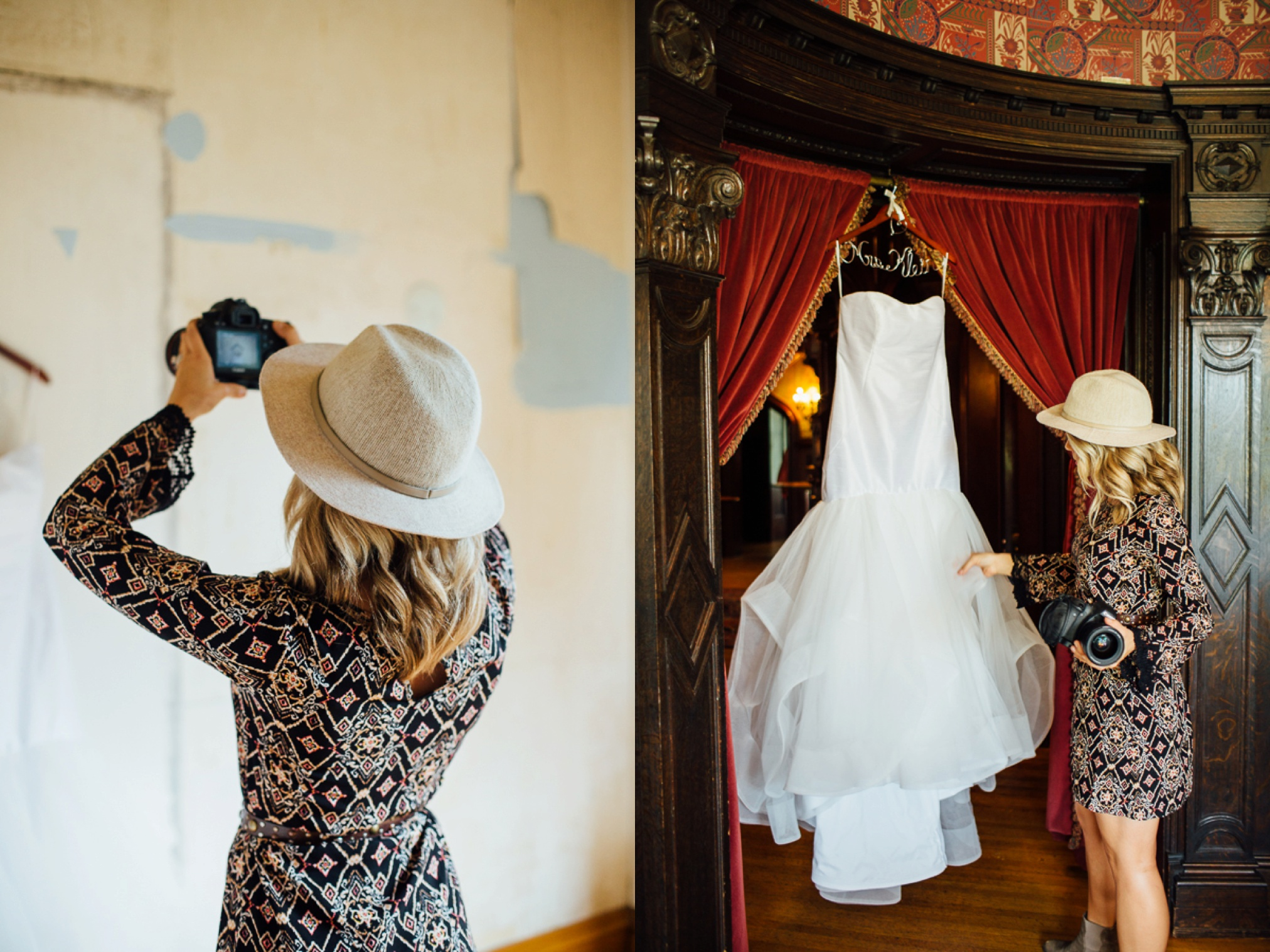 Every wedding we photograph the bride's lovely dress.