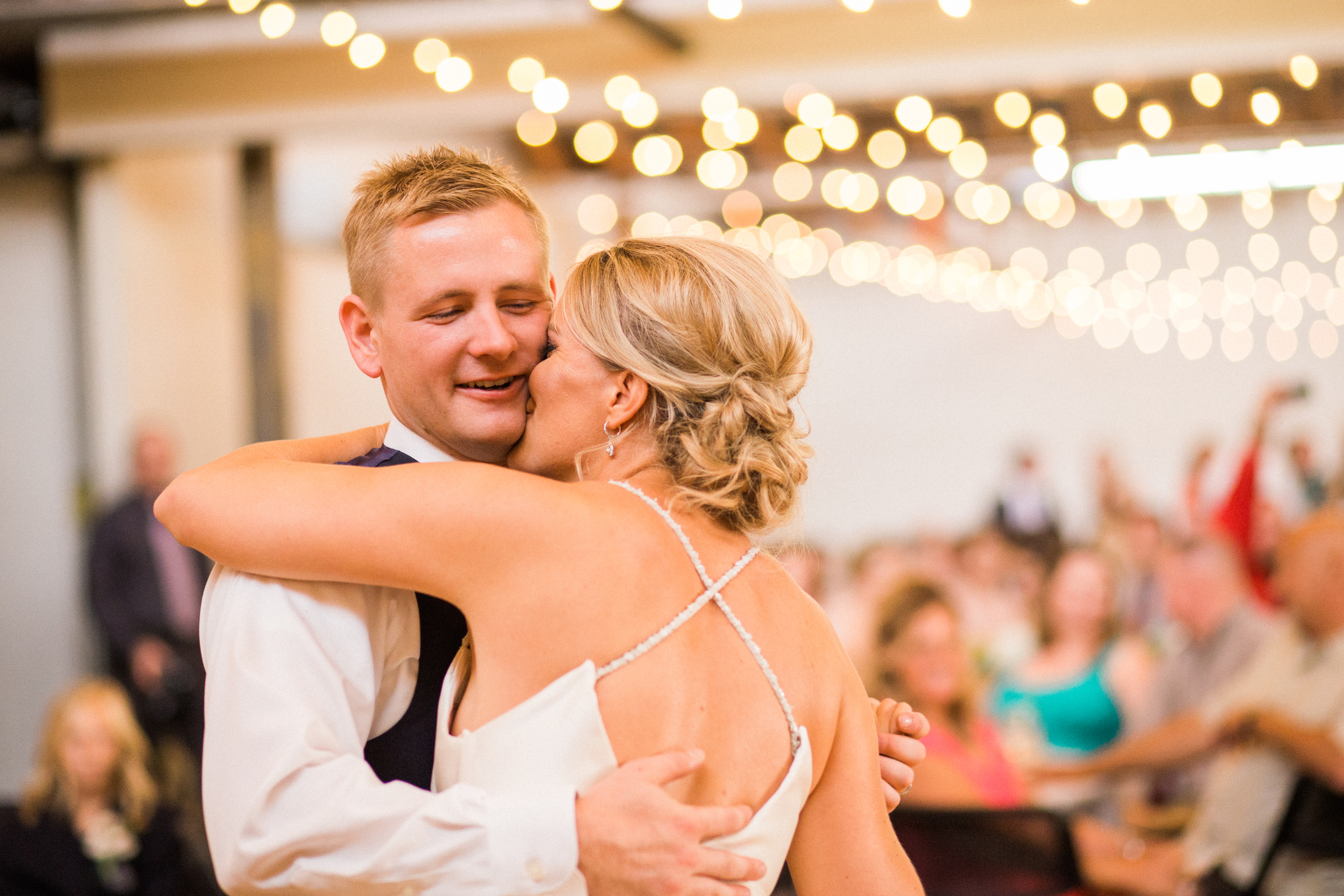 This is the first dance as husband and wife for  Brenna and Michael .