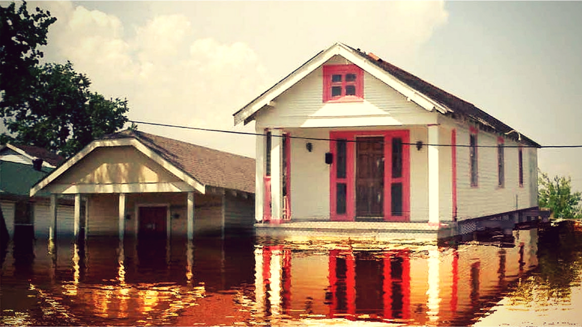 A Bold Proposal - Amphibious construction. Homes in flood planes built to float when it floods.