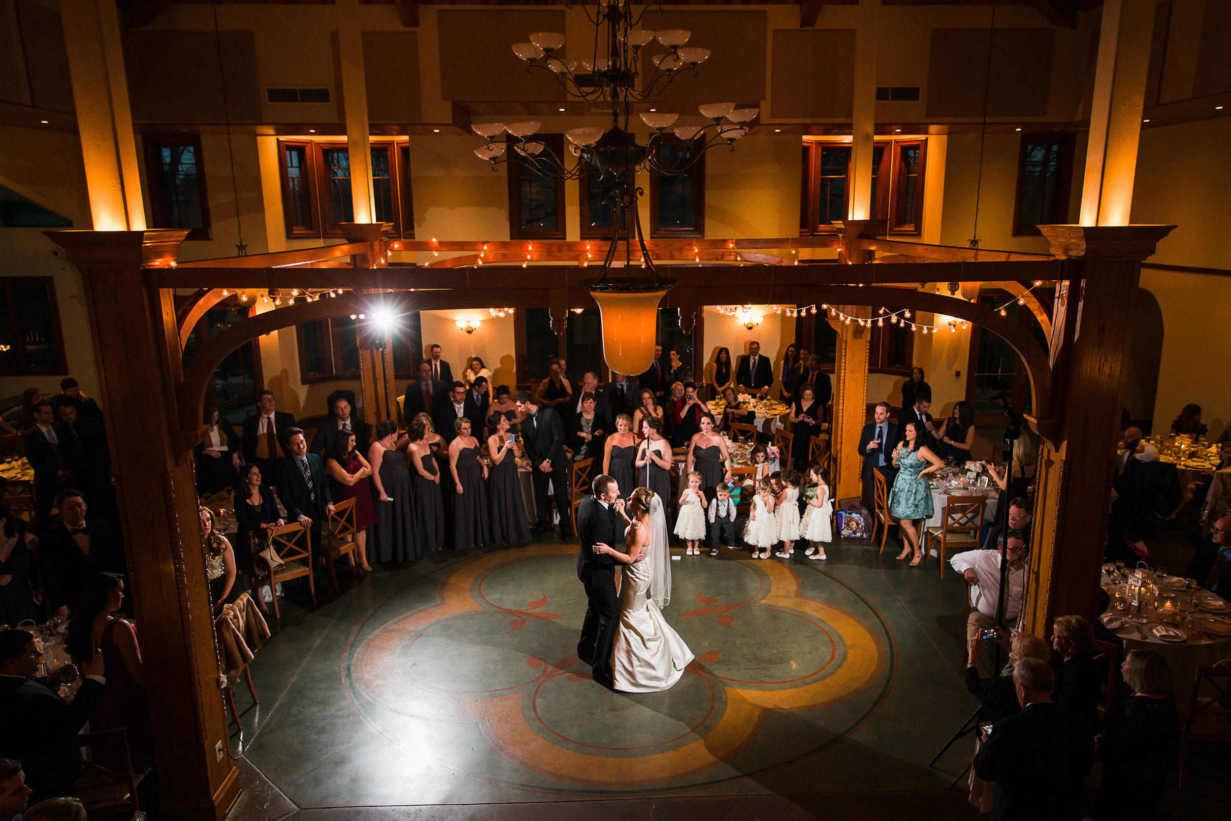 First Dance Captured from Above