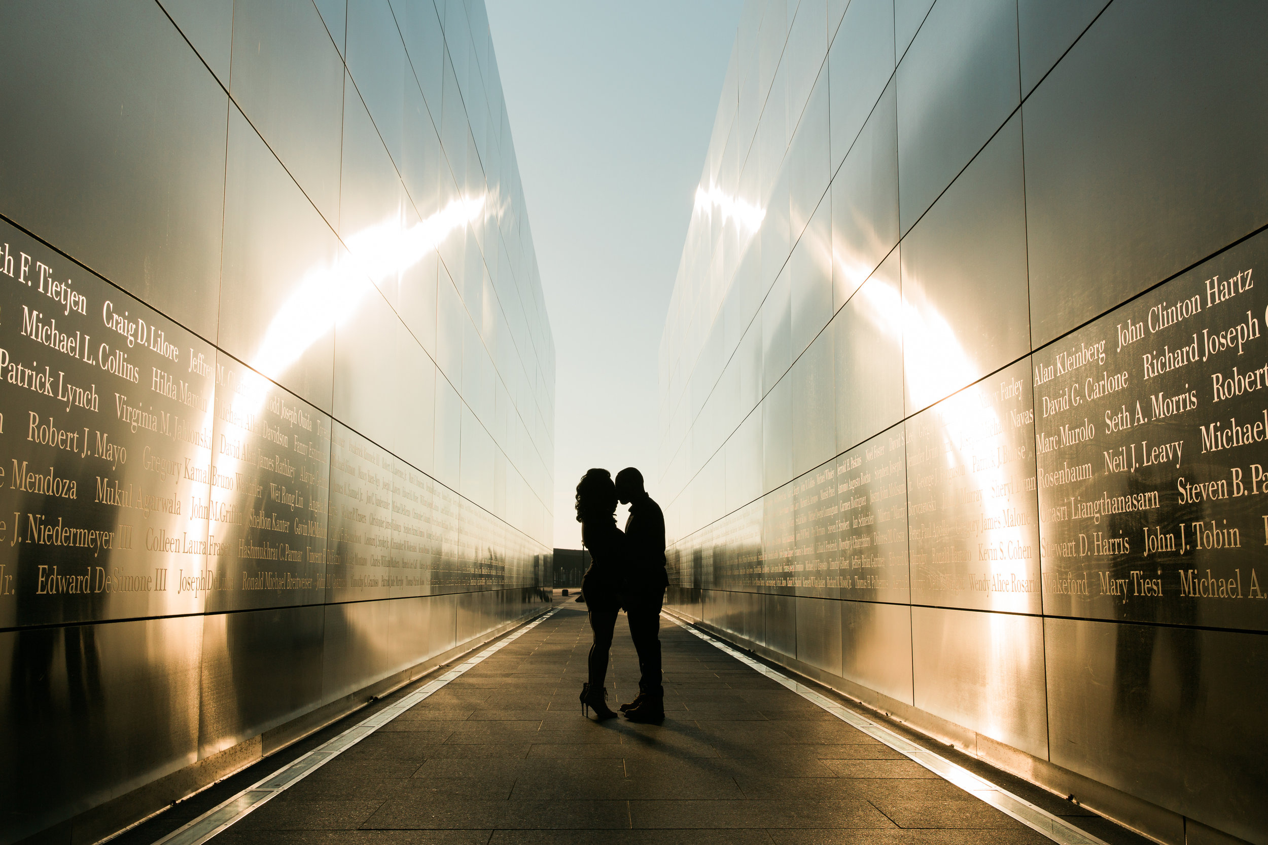 Liberty State Park Silhouette Engagement Session